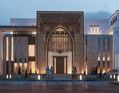 Islamic Private Villa UAE on Behance Mosque Architecture, Modern Architecture House, Classical Architecture, Architecture Design, Architecture Sketches, Architecture Wallpaper, Villa Design, Facade Design, Exterior Design