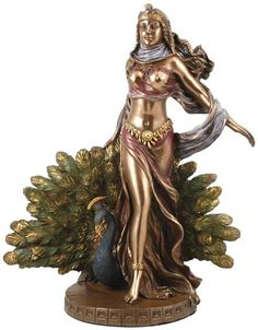"""Hera Statue    Queen to Zeus and often appearing in Greek Legends and myths, Hera is a Goddess of women and Marriage. Place this elegant statue of her on your altar or in your home in worship and reverence.         She measures approximately 9 1/2"""" tall. $62.95"""