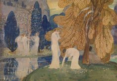 """""""Dancing Nymphs"""" by Constant Montald ca.1898"""