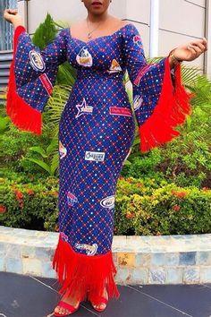 anita akufo in eib network cloth, African fashion, Ankara, kitenge, African wome… African Fashion Ankara, African Print Dresses, African Dresses For Women, African Print Fashion, Africa Fashion, African Attire, African Wear, African Women, African Prints