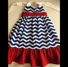 4th of July Blue Chevron Toddler Maxi Dress by Chicklettes on Etsy https://www.etsy.com/listing/233959787/4th-of-july-blue-chevron-toddler-maxi