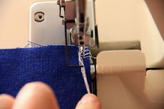How to Finish Seams with your Serger/Overlocker by www.thingsforboys.com