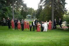 The wedding party taking a leap for a group shot - Photo by Bruce Defries Photography located in La Crosse, WI http://www.brucedefriesphotography.com