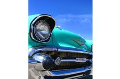 Blue Chevrolet Bel Air Photo Classic Car by RetroRoadsidePhoto