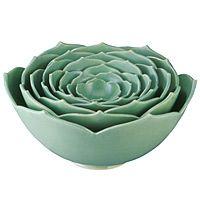 in my dream kitchen...nesting lotus bowls