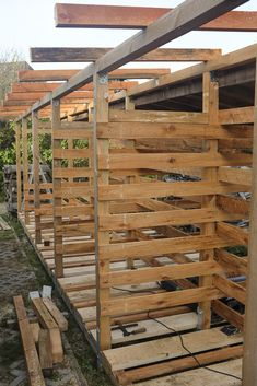 projects for beginners Build wood warehouse 2 Diy Pergola, Gazebo, Pergola Plans, Custom Woodworking, Woodworking Projects Plans, Getaway Cabins, Lean To, Diy Shed, Outdoor Sheds