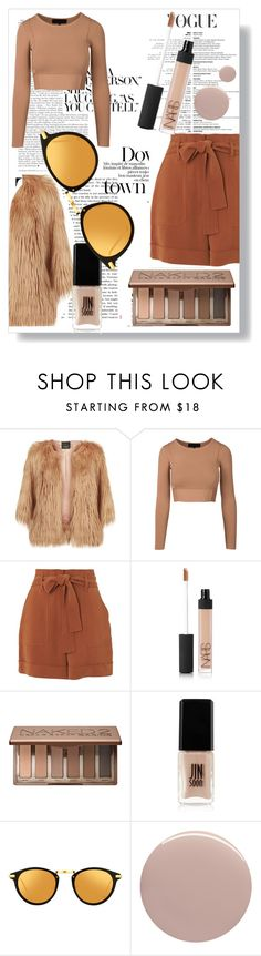"""""""The Neutral look"""" by equestrian13fashionista ❤ liked on Polyvore featuring Pinko, Kershaw, Whistles, NARS Cosmetics, Urban Decay, JINsoon, Linda Farrow and Nails Inc."""