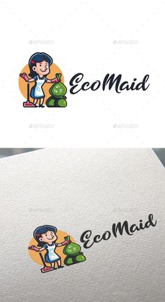 Cartoon Eco Maid Character Mascot Logo - Humans Logo Templates Get it now!! #logo #designlogo #logos #logodesign #logopremium #brand #branding #business #company #abstract #creative #mascot #designoflogo #thelogo #thedesign #logotemplate #print #logocompany #logoesport #logoanimal #logoabstract #envato #envatomarket #graphicriver #premiumdesign #creativemarket #freepik #shutterstock #behance #dribbble