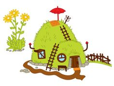 ITEM: Forest House Clipart - Digital Vector Forest House, Woodland, Hill, Ant, Toadstool, Anthill, Fairy House, Forest House Clip Art for Personal and Commercial Use  WHAT ... #thecreativemill