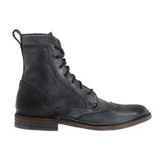 Frye Black James Wingtip boot
