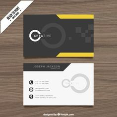 black-and-yellow-cloro-bussiness-card-design - Businnes Cards Business Card Psd, Cool Business Cards, Custom Business Cards, Creative Business, Web Design Black, Graphic Design Trends, Id Card Design, Logo Design, Bussiness Card