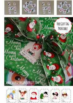Snugglebug University: Free printable Christmas Gift Tags