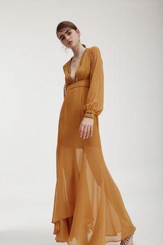 Keepsake-In My Eyes Maxi Dress, amber