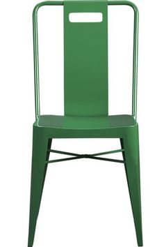 Ming Green Side Chair (Crate and Barrel). Like for outdoor dining chairs. Restaurant Design Vintage, Vintage Design, Kitchen Chairs, Room Chairs, Dining Chairs, Dining Room, Dining Area, Dinning Table, Metal Chairs