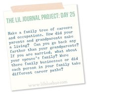 The Lil Journal Project Day 25 via lilblueboo.com