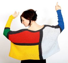Sweater Pullover Blouse Womens knitted sweater Oversized blouse To YVES SAINT LAURENT by YarnAndBeadsDesign on Etsy