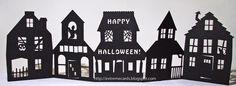 Fichier gratuit studio silhouette maisons en accordéon Halloween                                                                                                                                                                                 Plus