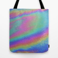 Holographic Tote Bag by Nestor2 - $22.00