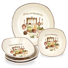 Lorren Home Trend Italian Cucina 5-piece Pasta Set