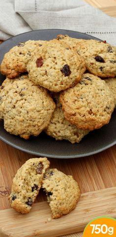 Cookies à la banane et raisins