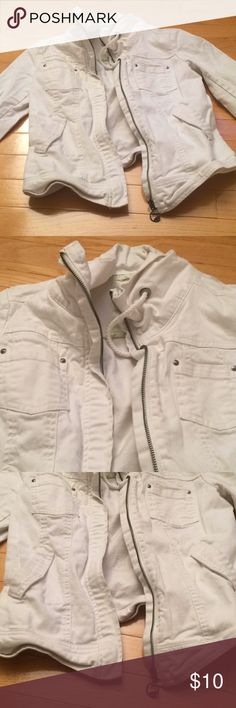 Garage White Denim Jacket Gently used with marks. Garage Jackets & Coats