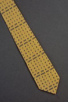 Ethiopian Alphabet Chart - Oliver Fitz Tie $25.00