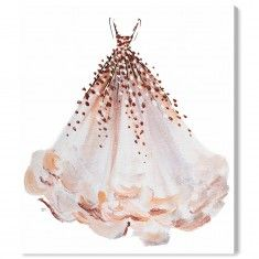 "Oliver Gal ""Coral Magic"" Fashion Gown Wall Art - Available in 5 Sizes from The Well Appointed House"