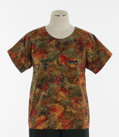 Scrub Med Womens Scrub Top in Fall Bouquet - $30