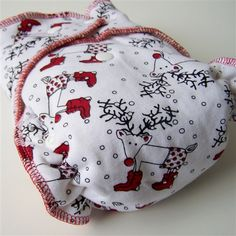monkey snuggle Reindeer fitted cloth Diaper