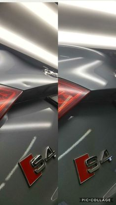 Stretched deep dent on Audi S4. Paintless Dent Repair Services Montreal.