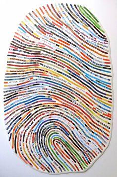 Fingerabdruck aus Zeitschriften