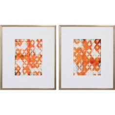 orange and grey art pair - Google Search