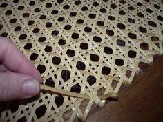 traditional chair caning by hand