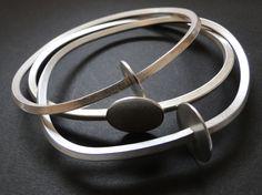 """""""Orbit"""" silver bracelets by Cristina Celis"""