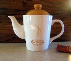 Tim Hortons tea pot, ceramic tea pot, butter yellow teapot, Timmies Tea Pot, home and living, tea maker at Designs by Wilowcreek on Etsy by DesignsByWillowcreek on Etsy Yellow Teapot, Tim Hortons, Vintage Kitchen, Tea Pots, Lime, Butter, Etsy Shop, Ceramics, Tableware