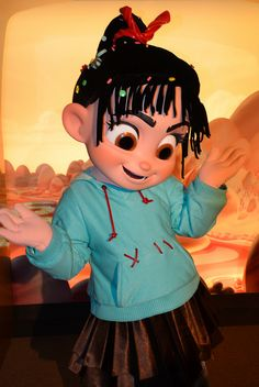 Vanellope from Wreck-It Ralph at the meet-and-greet area in the Starcade. I love Vanellope!!!