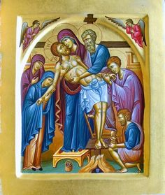 Descent from the cross by Dimitrios Skourtelis