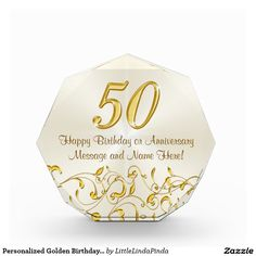 What to buy for your mom's birthday? Beautiful Personalized 50th Birthday Gifts for Her. She love displaying this gorgeous personalized fiftieth birthday gifts Award. CLICK: http://www.zazzle.com/pd/spp/pt-aif_award?dz=e05f382e-4b26-4b64-90cc-52f3ca418f06&clone=true&pending=true&shape=octagon&size=medium&design.areas=%5BacrylicIdea_award_octagonal_medium_front%5D&view=113303151547329783&CMPN=shareicon&lang=en&social=true&rf=238147997806552929 What to buy for your mom's birthday.
