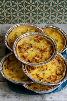 Mat på Bordet: Quiche - a meal on the go Cheese Dishes, Budget Meals, Cheeseburger Chowder, Macaroni And Cheese, Good Food, Brunch, Soup, Bacon, Snacks