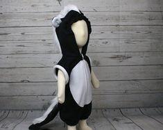 Skunk Fleece Baby Romper, Skunk Infant Outfit, Skunk Infant Romper, Skunk Halloween Romper