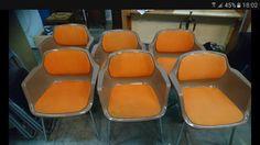 6 vintage design Seats made by Drabert design by gerd lange . Privé €200,-