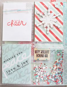 dec daily - 6 - love the filled shaker style pockets! Great for Christmas or New Years