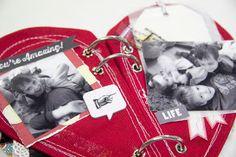 Heart shaped canvas minibook
