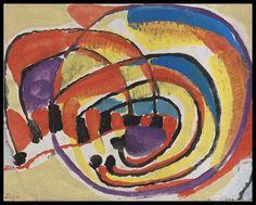 Gustav Bolin - Spirales multicolores #gallery #art #abstraction #paris #pfgarcier