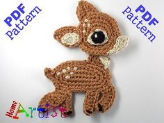 This says reindeer but it looks like a fawn (baby deer) CROCHET PATTERN for sale. Very nicely done.