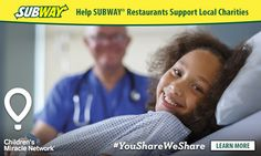 Eat at SUBWAY® Restaurants for a Great Cause This Summer! : Ottawa Mommy Club – Moms and Kids Online Magazine Global Village, My Community, Sick Kids, Kids Online, Ottawa, Charity, Learning, Children, Summer
