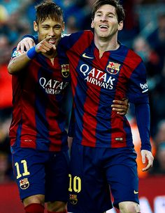 Neymar x messi Neymar Pic, Messi And Neymar, Messi And Ronaldo, Fc Barcelona, Barcelona Football, Soccer Stars, Sports Stars, Messi Photos, Fifa 15
