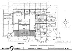 Japanese Traditional House Plan Tea House Drawing Building Detail Temple Shrine