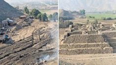 This is unbelievable. This should not be allowed to happen! A 5,000 year-old pyramid has been completely levelled in Peru