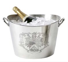 J'adore Decor - Eichholtz Champagne Cooler With Coat Of Arms, £155.00 (http://www.jadoredecor.co.uk/products/eichholtz-champagne-cooler-with-coat-of-arms.html)